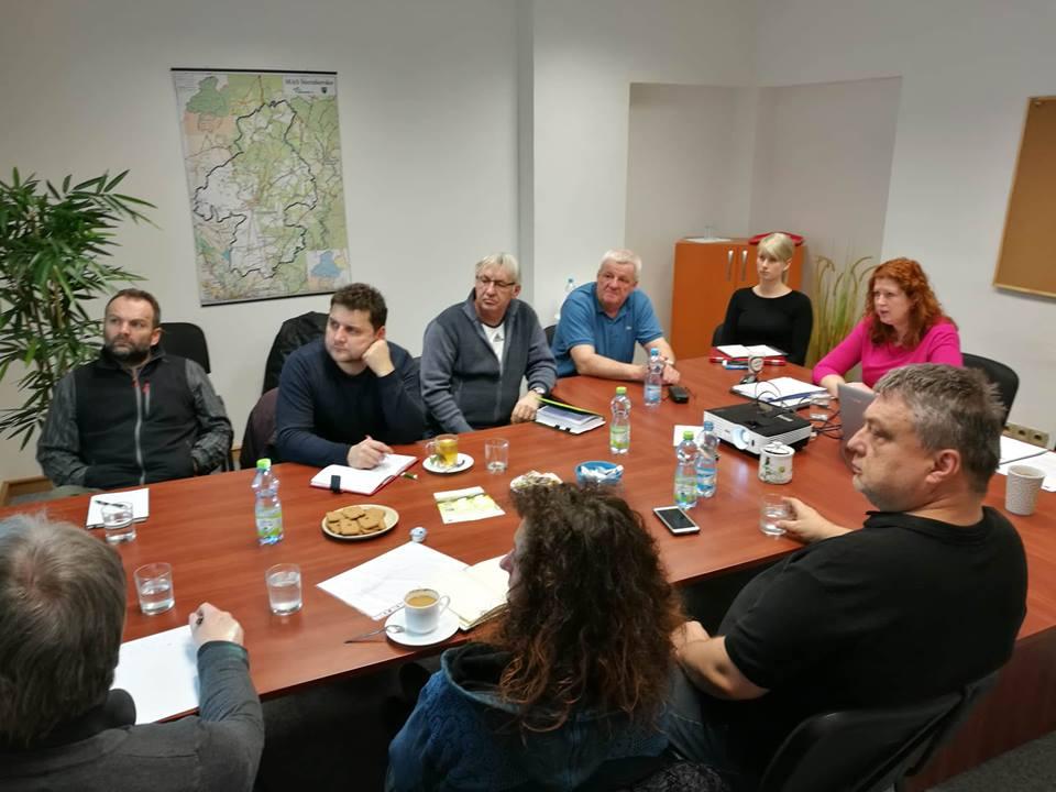 Schůzka projektu se starosty zapojených obcí a zástupci MAS Šternbersko.